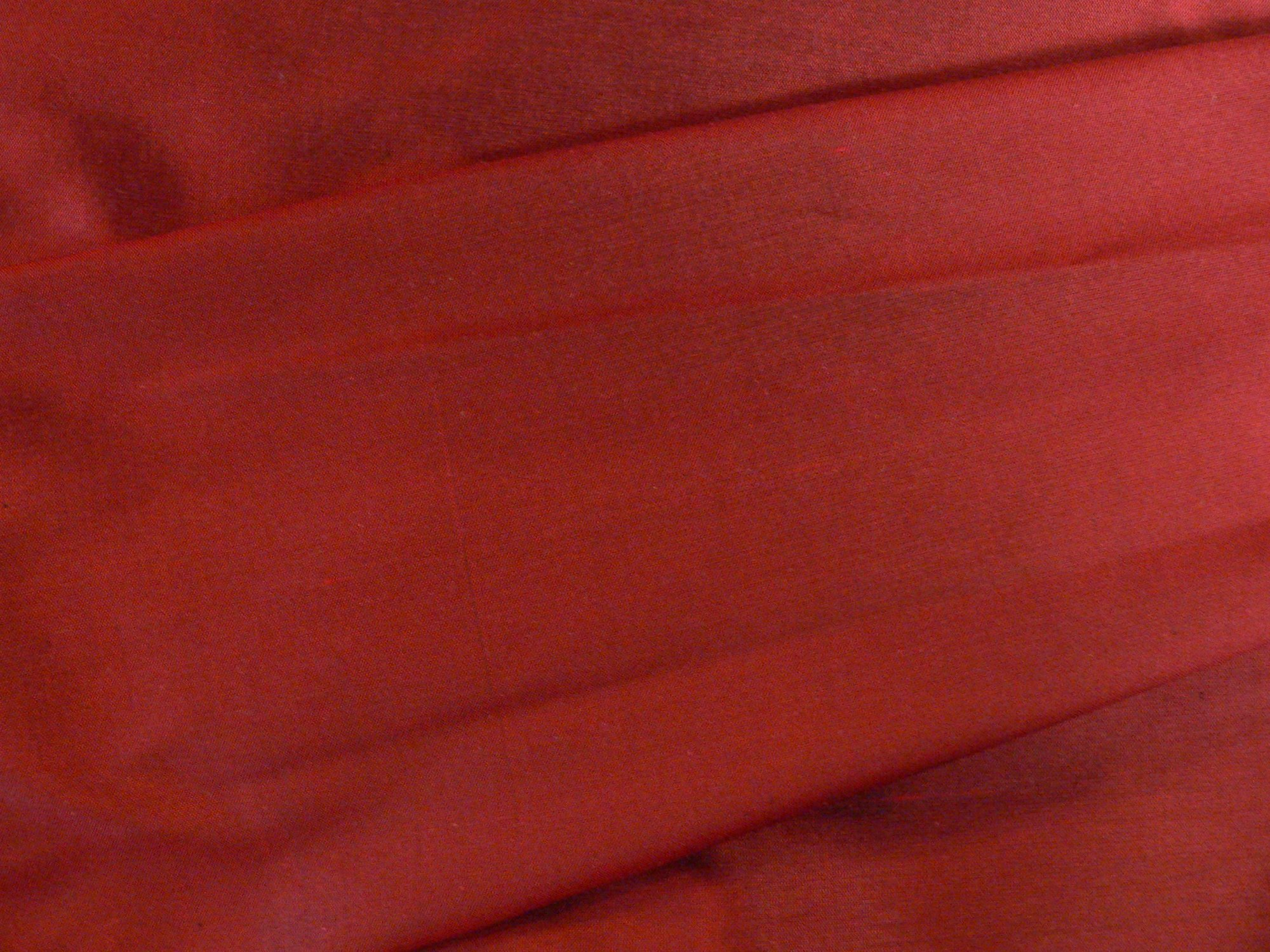 100% silk taffeta, deep red