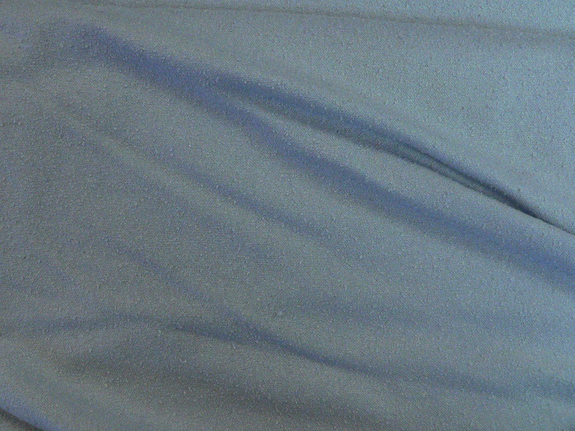 100% silk noil, blue