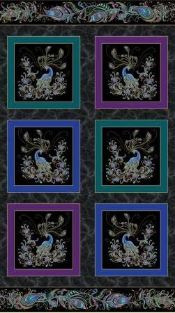 Peacock Flourish Panel
