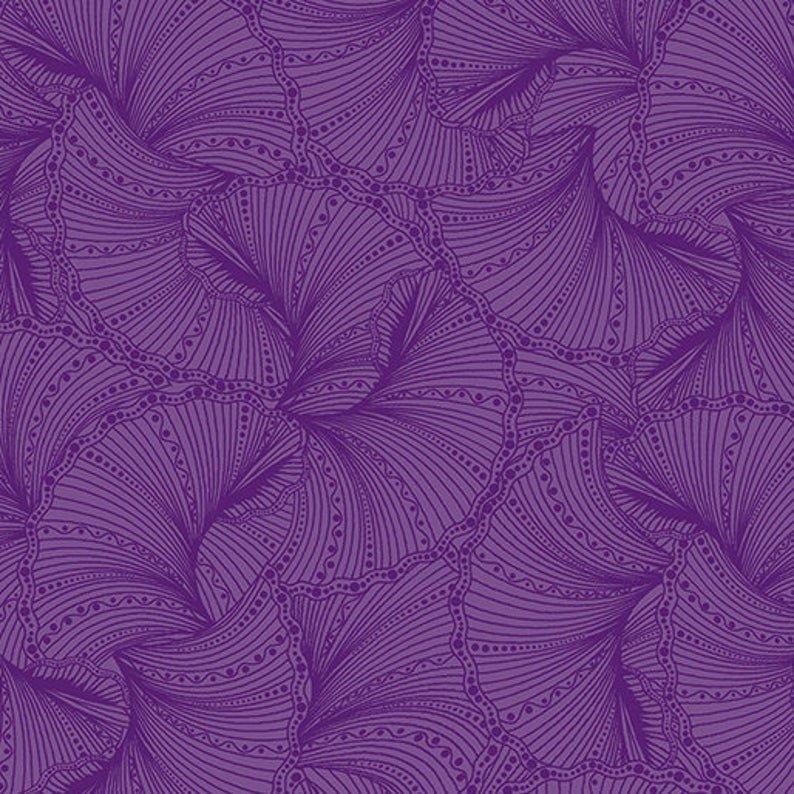 Peacock Flourish Purple Tonal