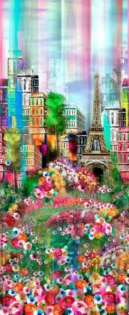 Spring scenic, wanderlust, Paris, digitally printed