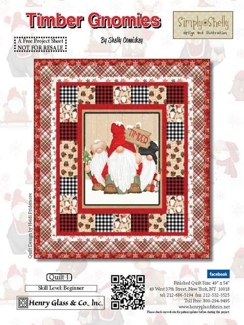Timber Gnomies Flannel Quilt Kit