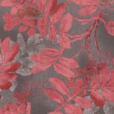 Lecien Centenary Collection Grey and Red Leaf Print