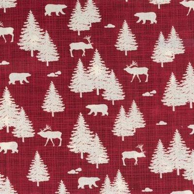 True North 2 Red w/ Cream Tree/Animal Silhouettes