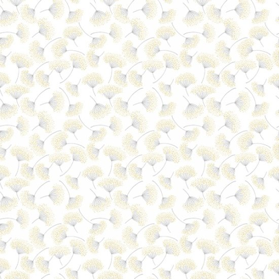 White Flower w/ Gold and Silver Metallic