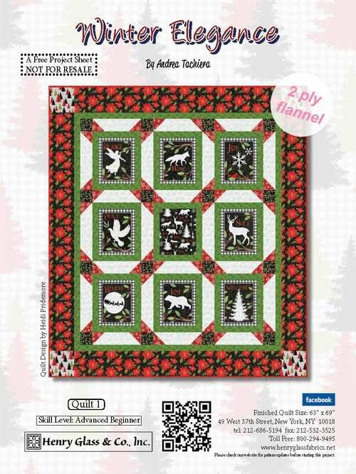 Winter Elegance Flannel Quilt Kit