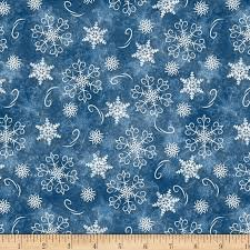 Welcome Winter Blue Snowflake