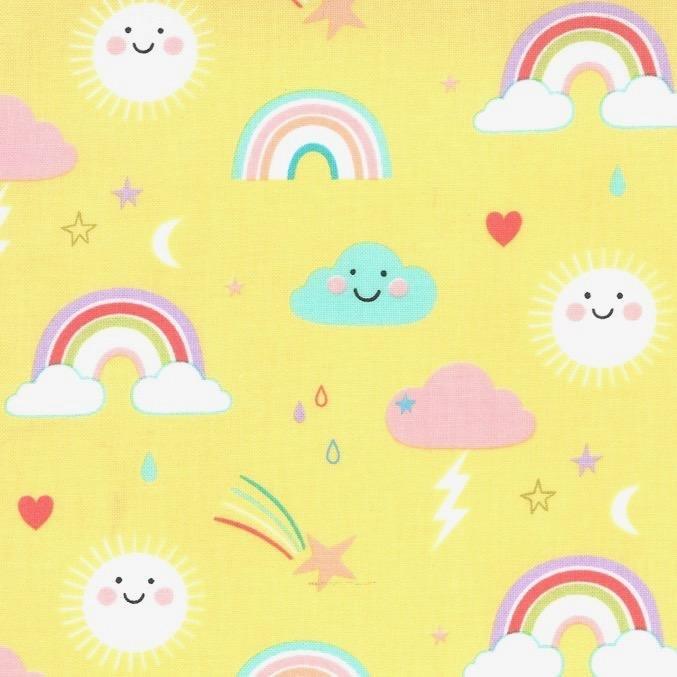 Hello Sunshine Clouds, Sun, Rainbows on Sunshine