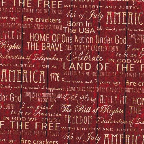 American Pride Words Red