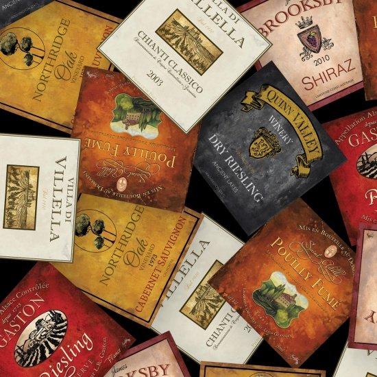 Wine Labels - Black
