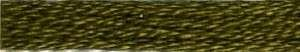 Cosmo #675 Cotton Embroidery Floss 8m Skein Dark Dull Yellow Green