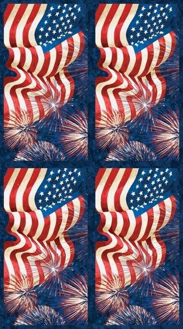 Stonehenge Celebration 2 Flag and Fireworks Panel