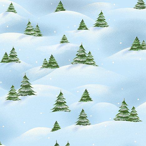 Just Chillin' Christmas Tree Scenic Light Blue