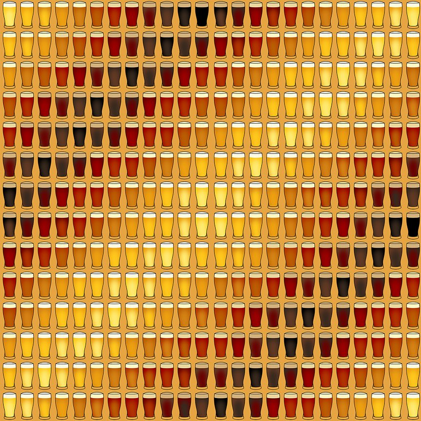 Beer Glass Stripe Amber