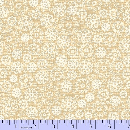 White Snow Flakes on Beige