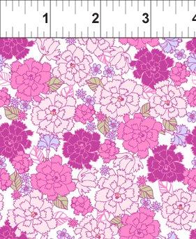 Carnation Pink/White