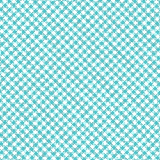 Quilt Camp Checker Turquoise