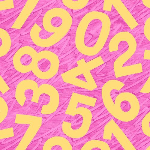 Happy Birthday Yellow Letters on Pink