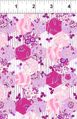 Hexagons Pink