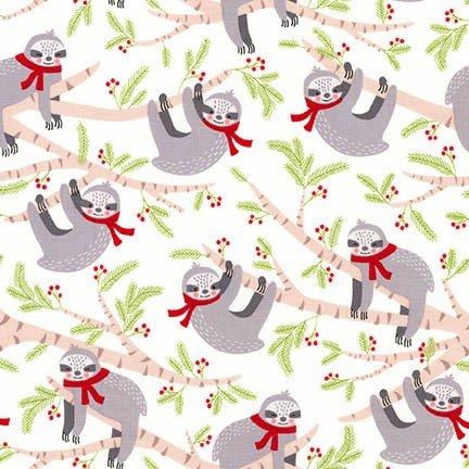 Frosty Friends Sloths on White
