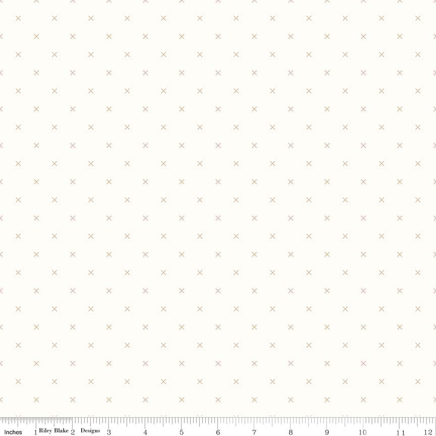Bee Background Crosstitch Brown