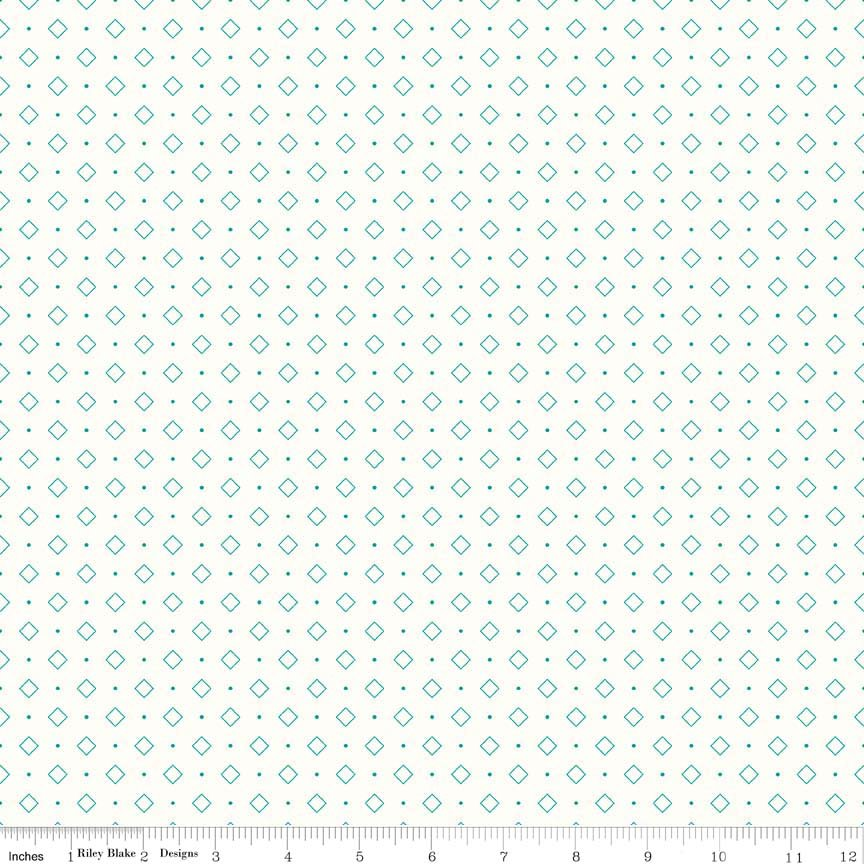 Bee Backgrounds Diamond Turquoise