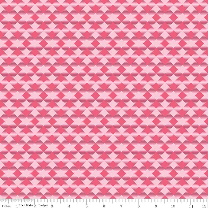 Bee Basics Gingham Raspberry