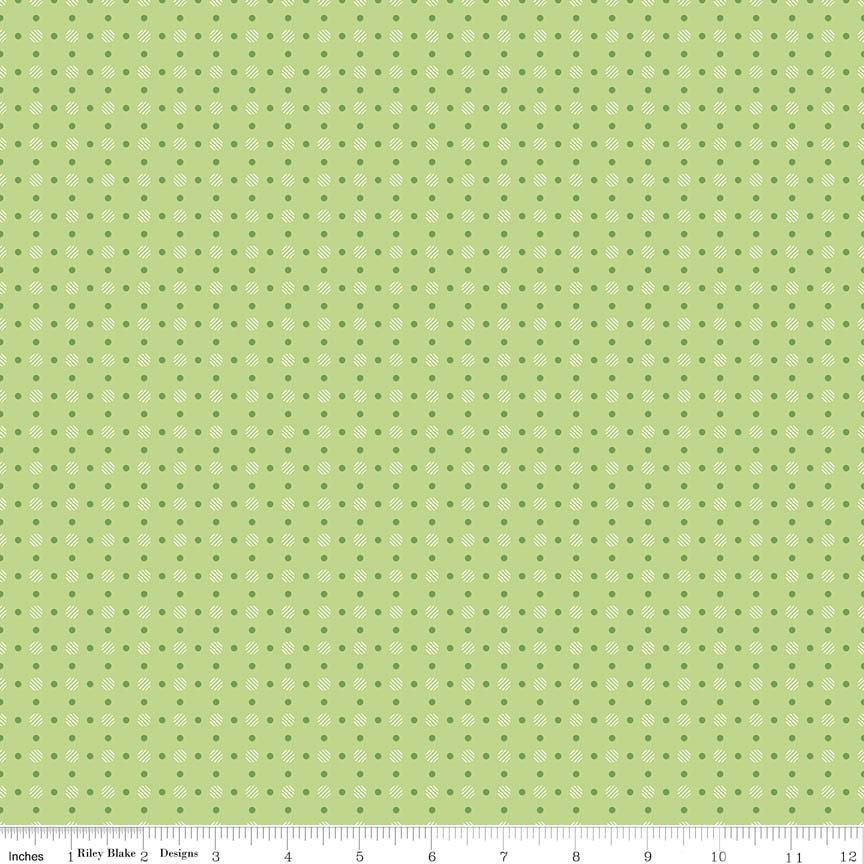 Bee Basics Polka Dot Green