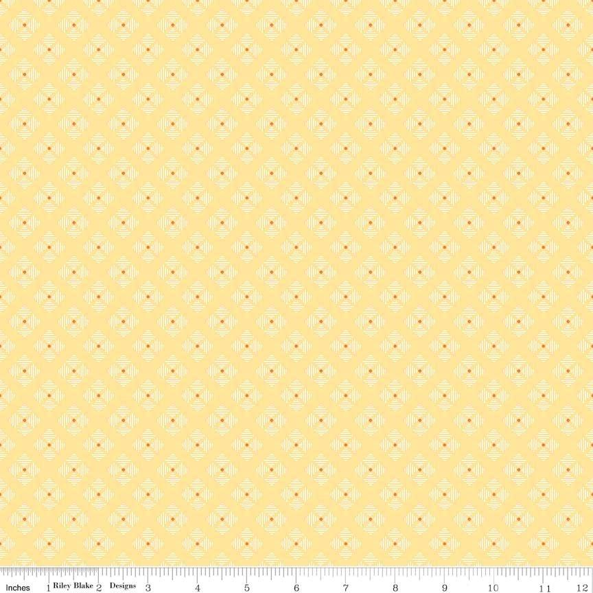 Bee Basics Stitched Flower Yellow