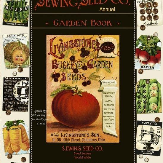 Cream/Black - Sewing Seeds II Panel (24)