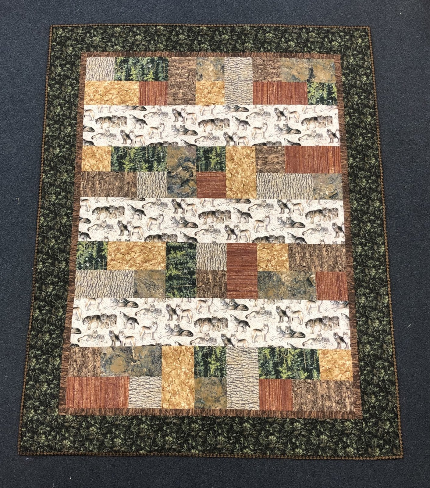 Wolf Mountain, Cherish quilt kit. 50 x60