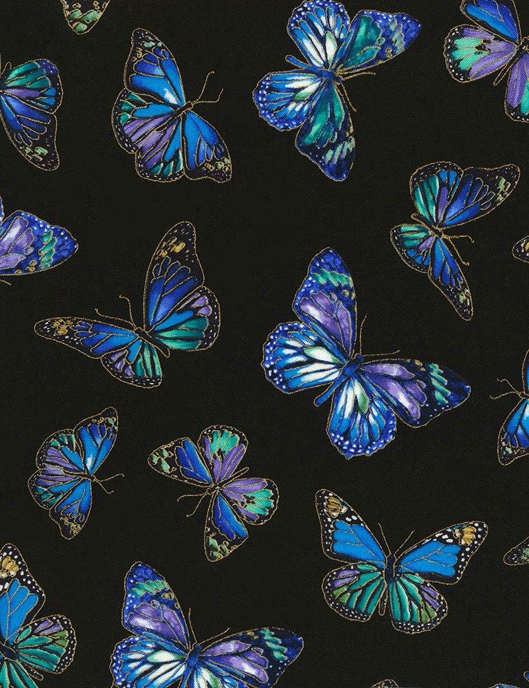 Butterflies on Black