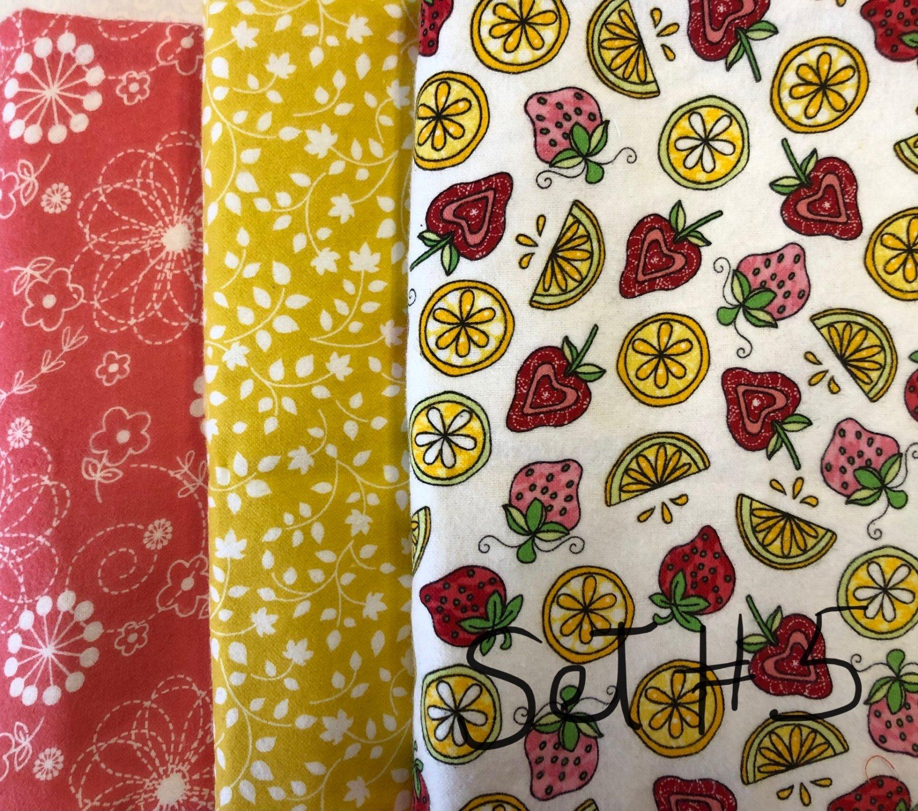 Bundle 144-Flannel Fruits