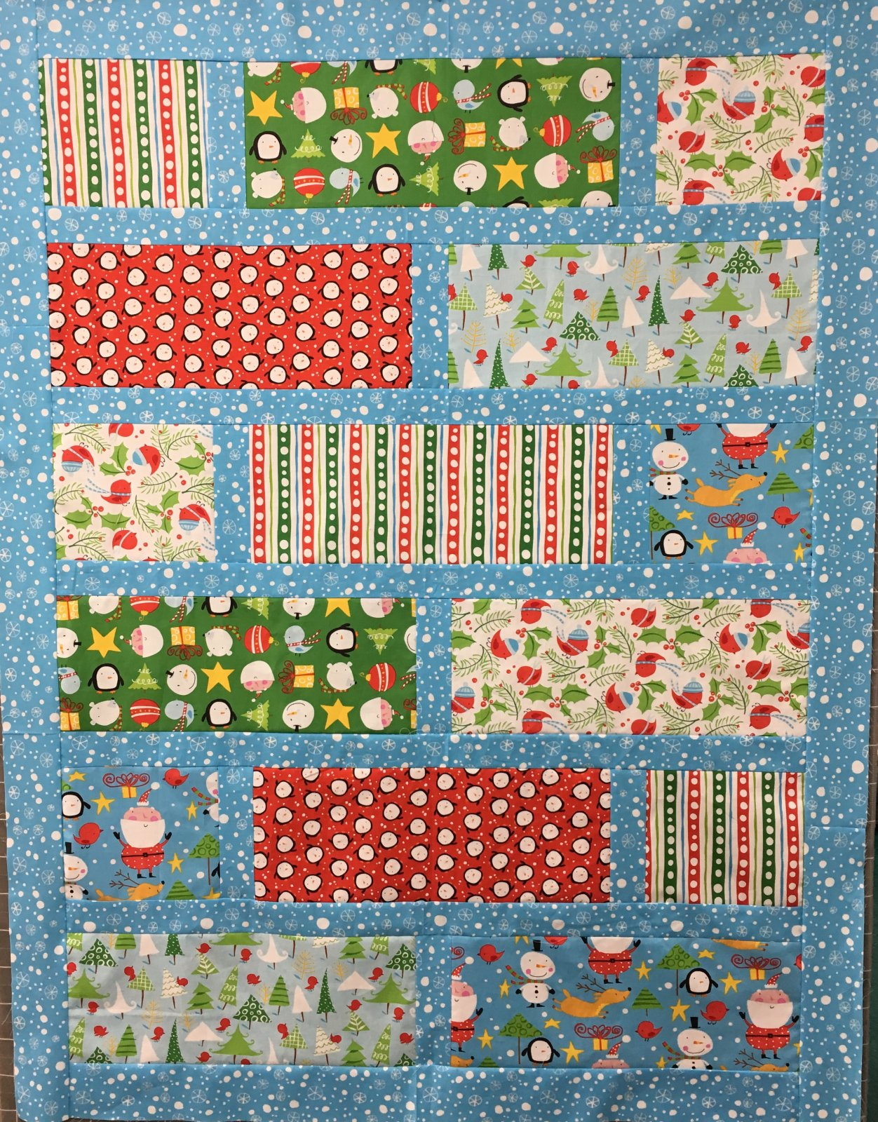 Merry quilt kit 47x 61