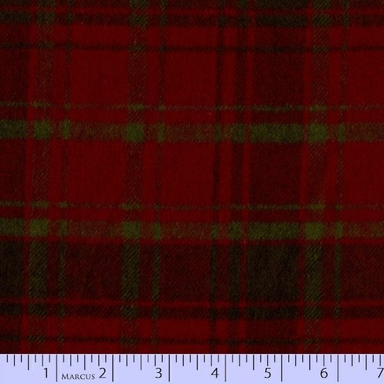 Plaid Flannel Green on Red