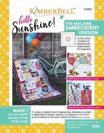 CD Hello Sunshine Machine Embroidery