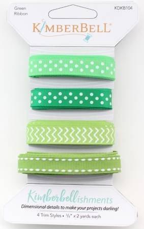Kimberbellishments ribbon green