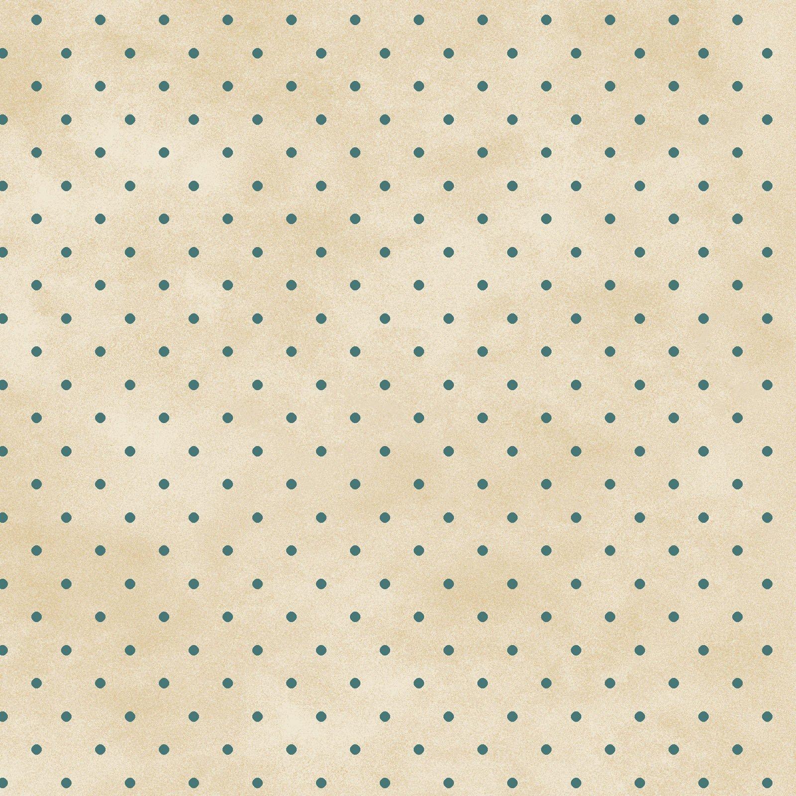 Dot Cream/Teal