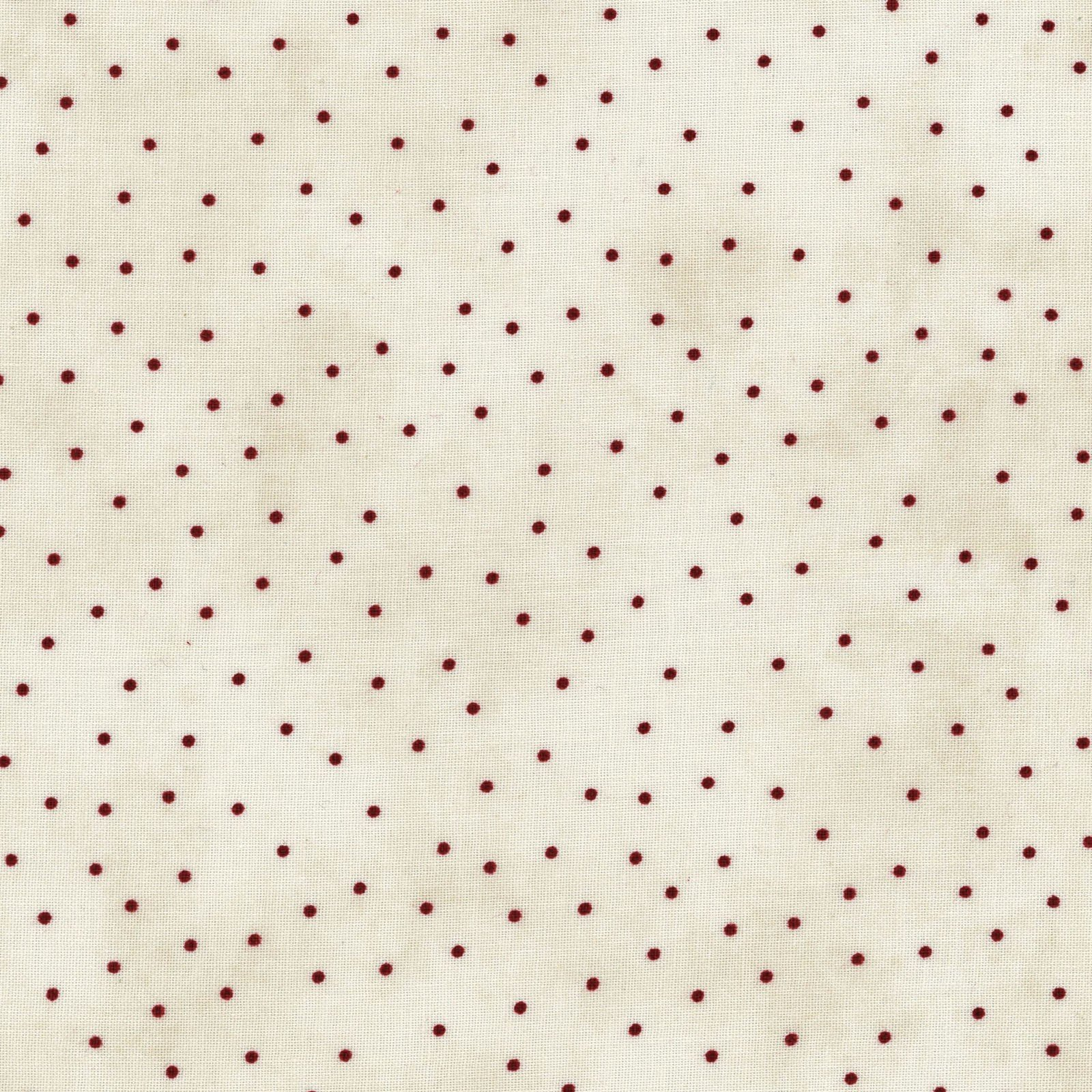 Beautiful Basics 8119-ER Scattered dots red on natural