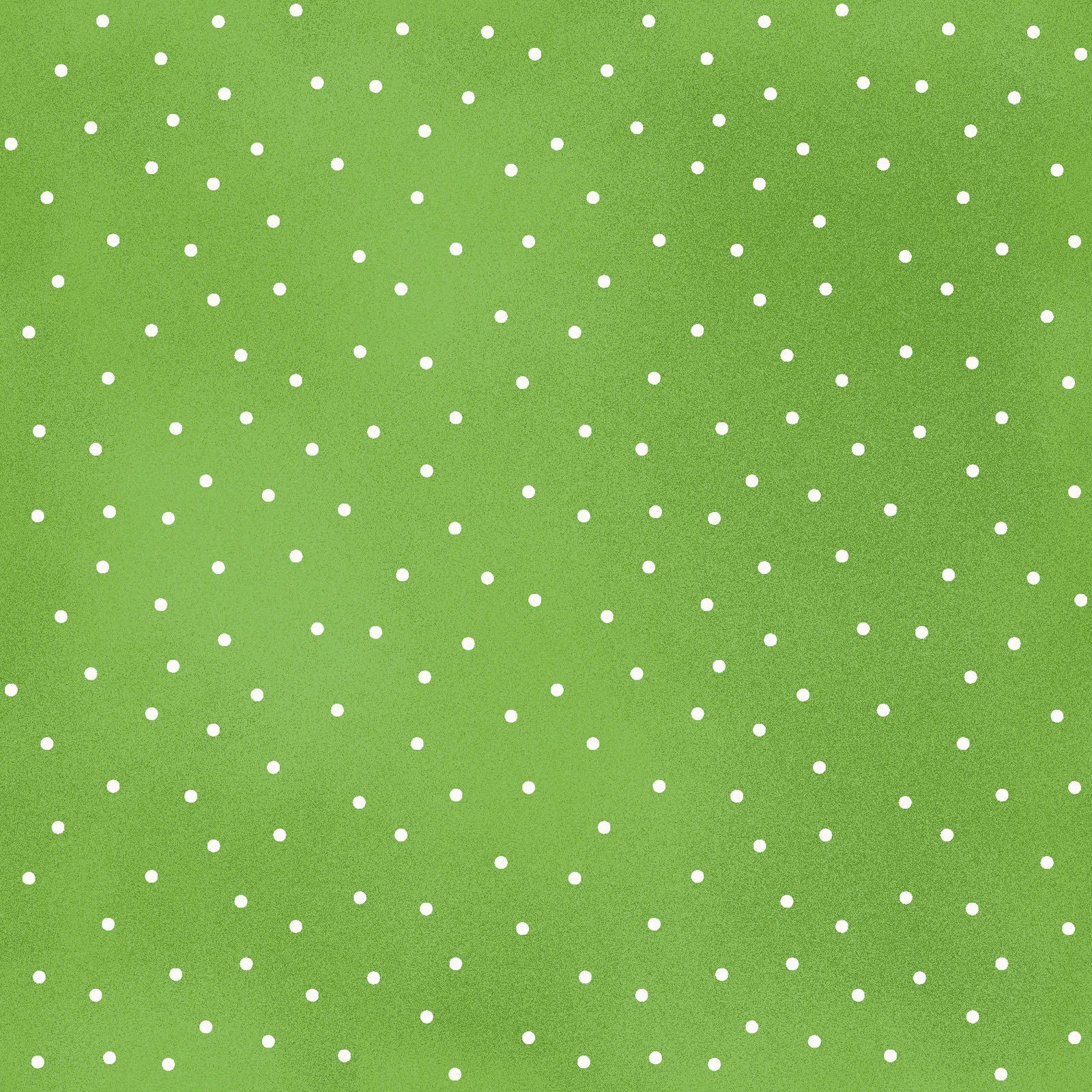 Beautiful Basics 8119-GG Scattered dots white on green