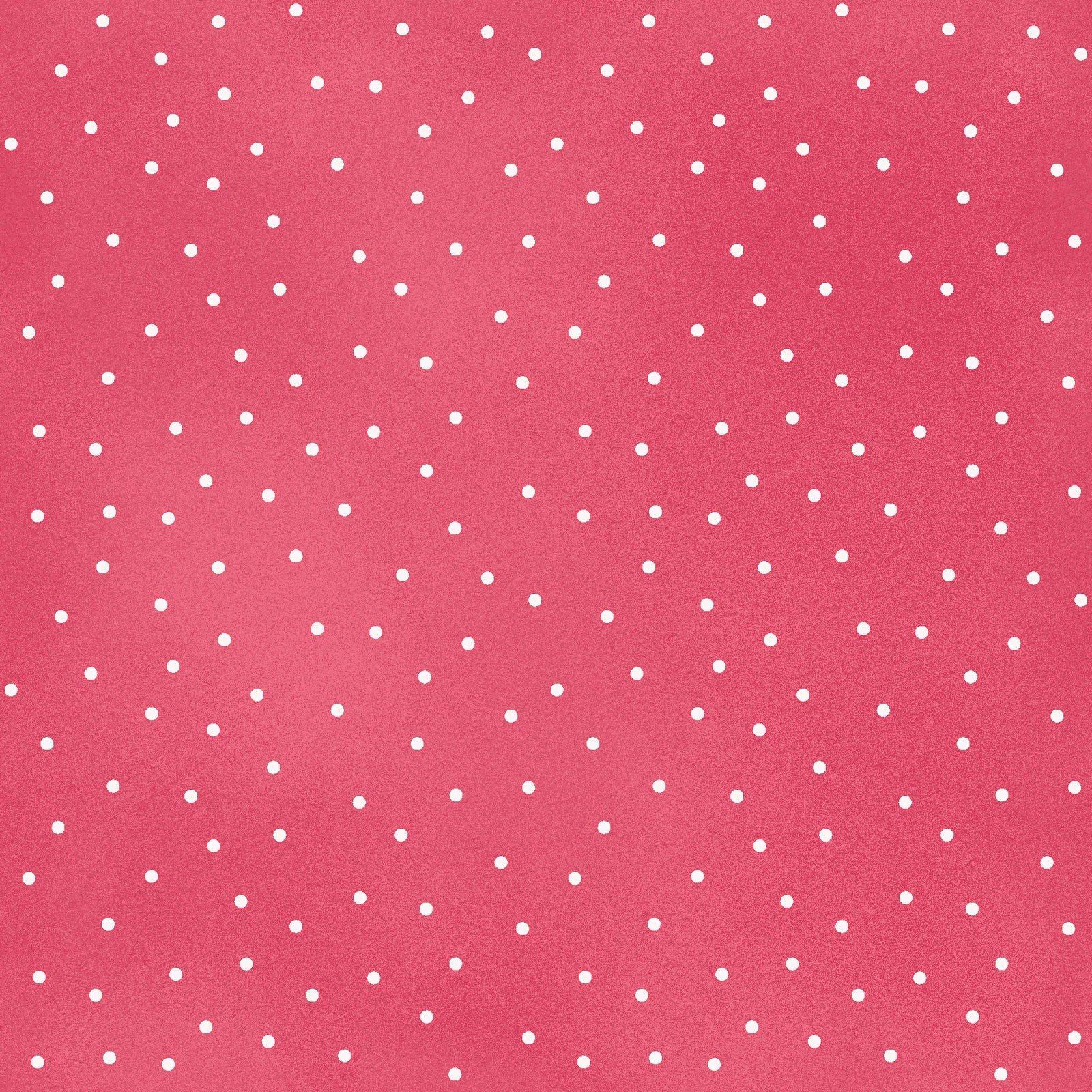 Beautiful Basics 8119-P2 Scattered dots white on pink