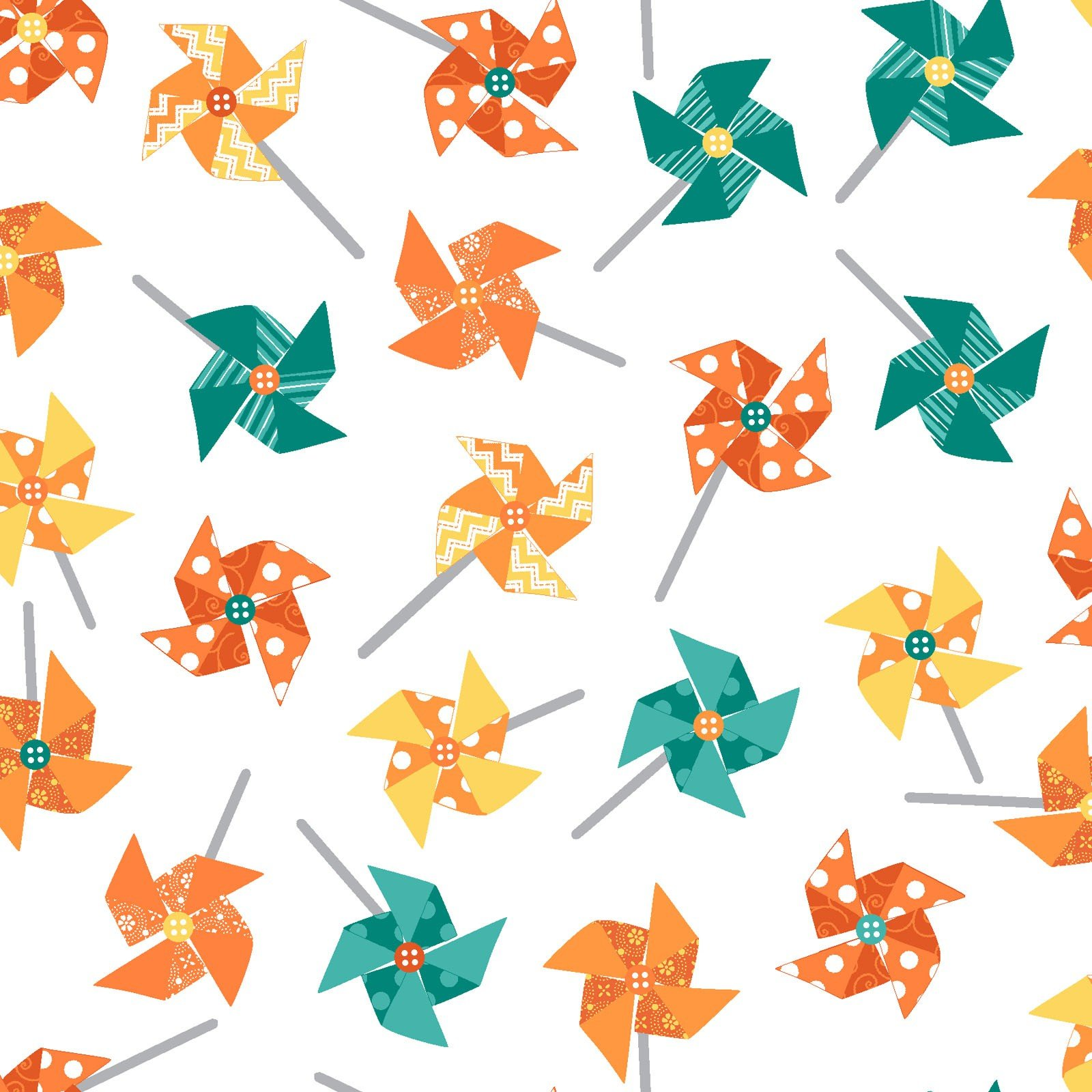 Sprinkle Sunshine-Pinwheels on white with yellow/orange