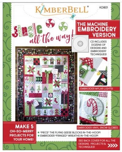 CD Embroidery Jingle All the Way