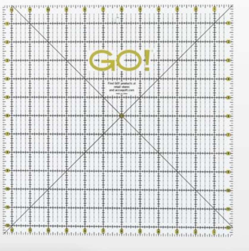 GO! quilting ruler 12 1/2 x12 1/2