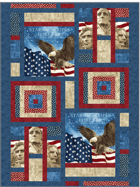 Remembrance quilt kit, 60 x 80 finished