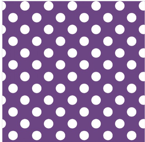 Kimberbell Dots Purple/White -Broomhilda's Bakery