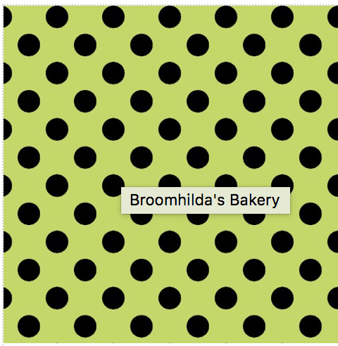 Kimberbell Dots Lime/Black-Broomhilda's Bakery