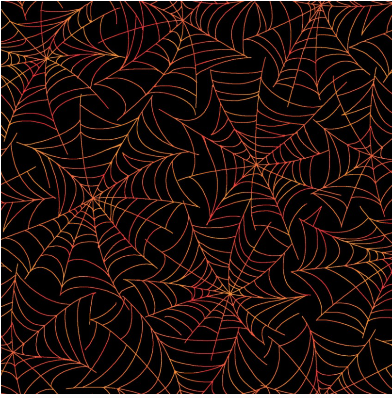 Kimberbell Broomhilda's Spiderweb Black/Orange