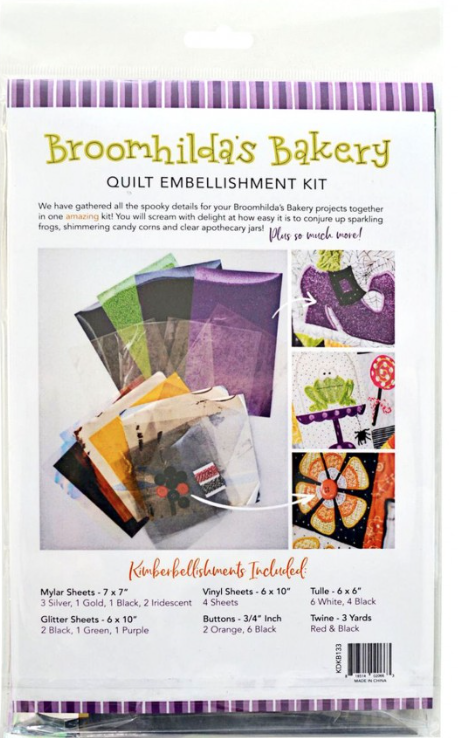 Broomhilda's Bakery quilt embellishment kit