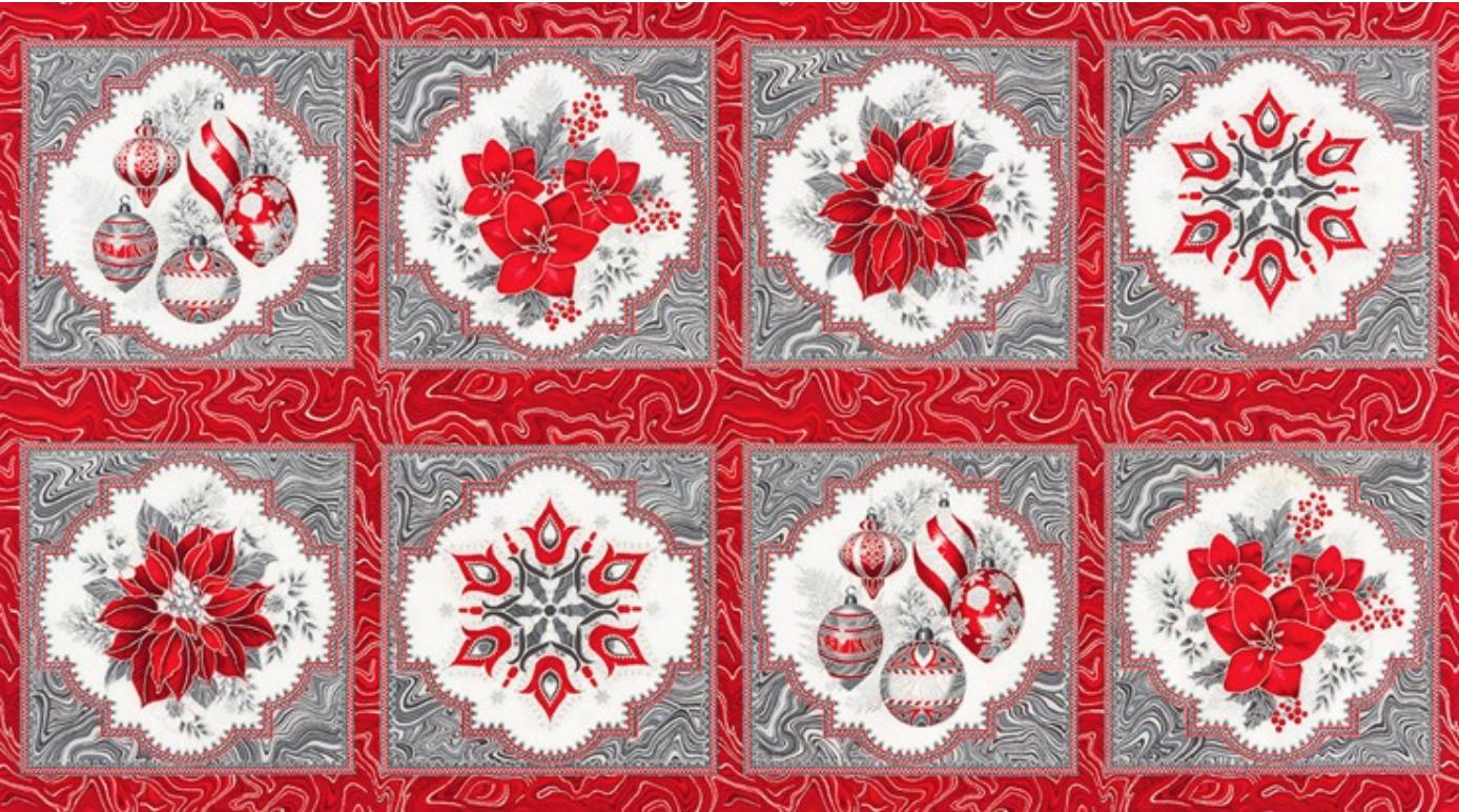 Holiday Flourish 11- Panel, Silver